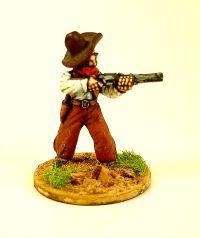 Cowboy standing firing winchester